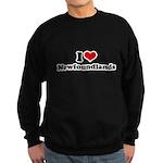 I Love Newfoundlands Sweatshirt (dark)