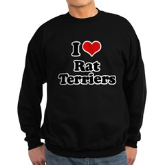 I Love Rat Terriers Sweatshirt