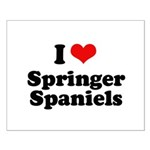 I Love Springer Spaniels Small Poster