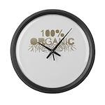 100% Organic Large Wall Clock