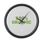 100 percent organic Large Wall Clock