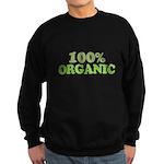 100 percent organic Sweatshirt (dark)