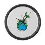 Earth Day T-shirts Large Wall Clock