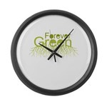 Forever Green Large Wall Clock