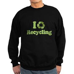 I Love Recycling Sweatshirt (dark)