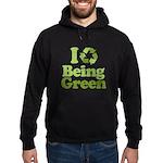 I Love Being Green Hoodie (dark)