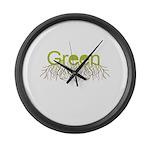 Green Large Wall Clock