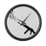 Peace Gun Large Wall Clock