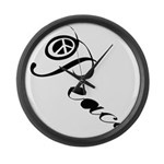 Peace Large Wall Clock