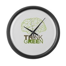The future is green Large Wall Clock