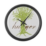 Tree Hugger Shirt Large Wall Clock