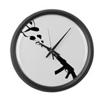 Love Gun Large Wall Clock