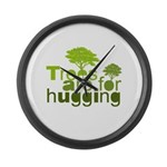 Trees are for hugging Large Wall Clock