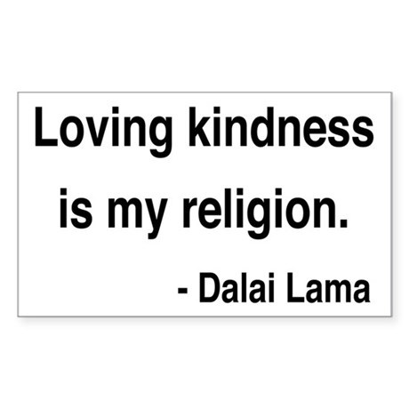 Dalai Lama 22 Rectangle Sticker