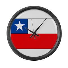 Chilean Flag Large Wall Clock