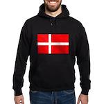 Danish / Denmark Flag Hoodie (dark)