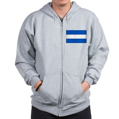 El Salvador Flag Zip Hoodie