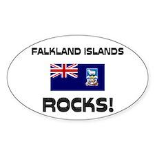 Falkland Islands Rocks! Oval Decal