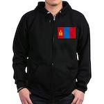 Mongolian Flag Zip Hoodie (dark)