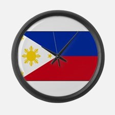 Philippines Flag Large Wall Clock