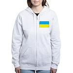 Ukranian Flag Women's Zip Hoodie