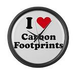 I love carbon footprints Large Wall Clock