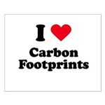 I love carbon footprints Small Poster