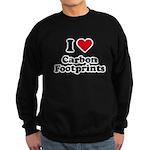 I love carbon footprints Sweatshirt (dark)