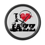 I love jazz Large Wall Clock