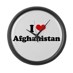 I love Afghanistan Large Wall Clock