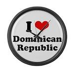 I love Dominican Republic Large Wall Clock