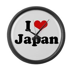 I love Japan Large Wall Clock