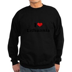 I love Lithuania Sweatshirt (dark)