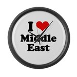 I love Middle East Large Wall Clock