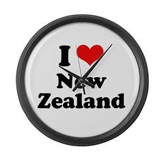 I love New Zealand Large Wall Clock