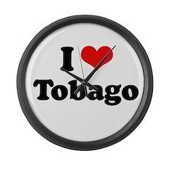 I love Tobago Large Wall Clock