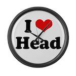 I love head Large Wall Clock