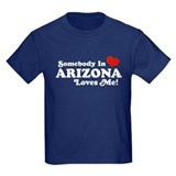 Arizona boys someone in arizona loves me Kids T-shirts (Dark)