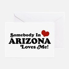 Somebody in Arizona Loves me Greeting Cards (Pk of