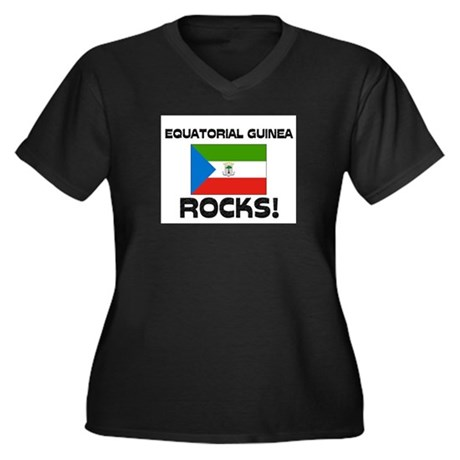 Equatorial Guinea Rocks! Women's Plus Size V-Neck