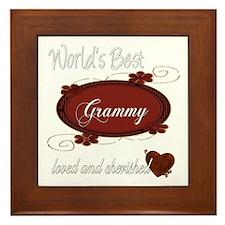Cherished Grammy Framed Tile
