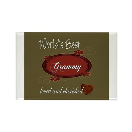 Cherished Grammy Rectangle Magnet (100 pack)