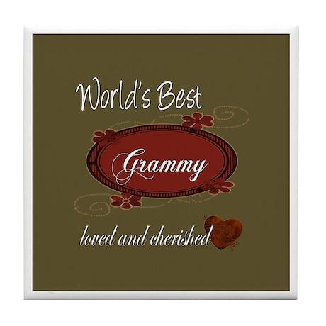 Cherished Grammy Tile Coaster