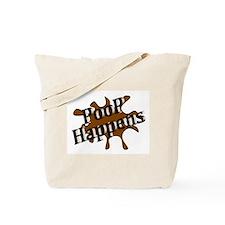 Poop Happens Tote Bag