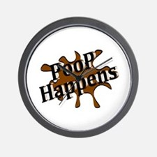 Poop Happens Wall Clock