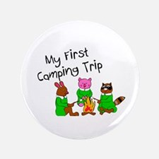 "My First Camping Trip 3.5"" Button"