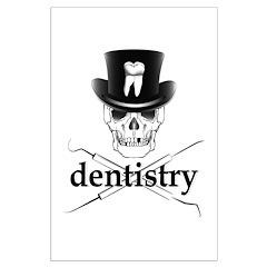 Dentistry Skull Posters