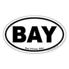 Bay Village Ohio BAY Euro Oval Decal