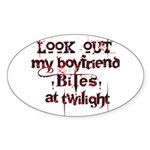 Look Out Oval Sticker (10 pk)