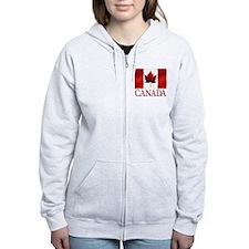 Women's Canada Zip Hoodie Canada Maple leaf Hoodie